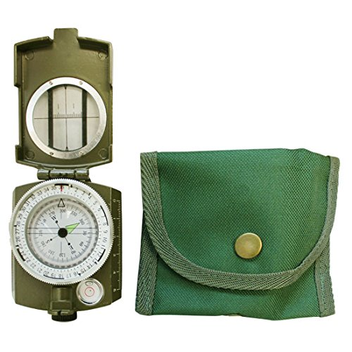 Adventure Lensatic Compass Mil Spec Plus Bubble level Compass Hiking Pathfinder by Generic