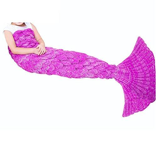 Mermaid Blanket,FYHAP Mermaid Tail Blanket Soft All Seasons,Sofa Quilt Living Room Super Sleeping Bags (Kids Scale Pink)