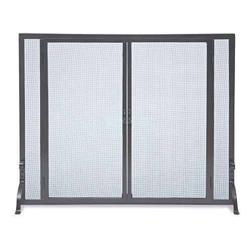 Pilgrim Home and Hearth 18467 FGND Full Height Door Fireplace Screen, 39″W x 31″H, Matte ()