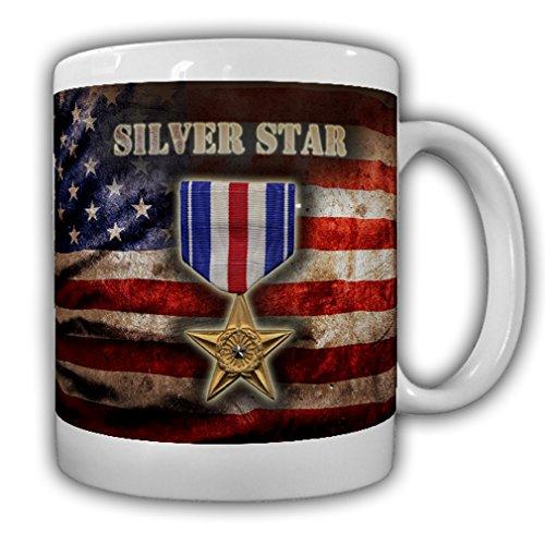 Silver Star US Army Medal Award Merit Badge Bravery Courage Hero Patriot - Coffee Cup Mug ()