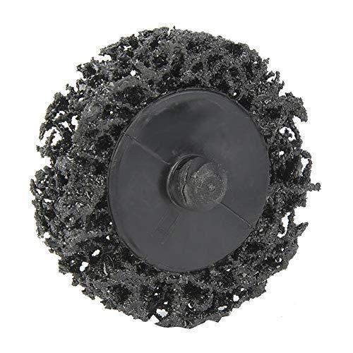 Fictor クリニーク2インチ50ミリメートルポリストリップディスクロールロック砥石ラストリムーバー(ブラック)ペイント