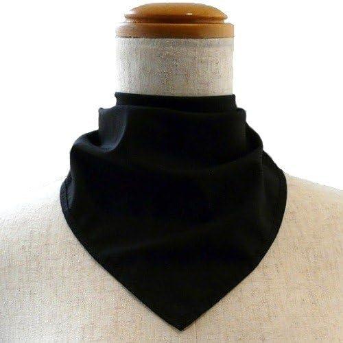 【気管切開や喉頭摘出などの傷隠しに】面テープ バンダナネックカバー:ブラック