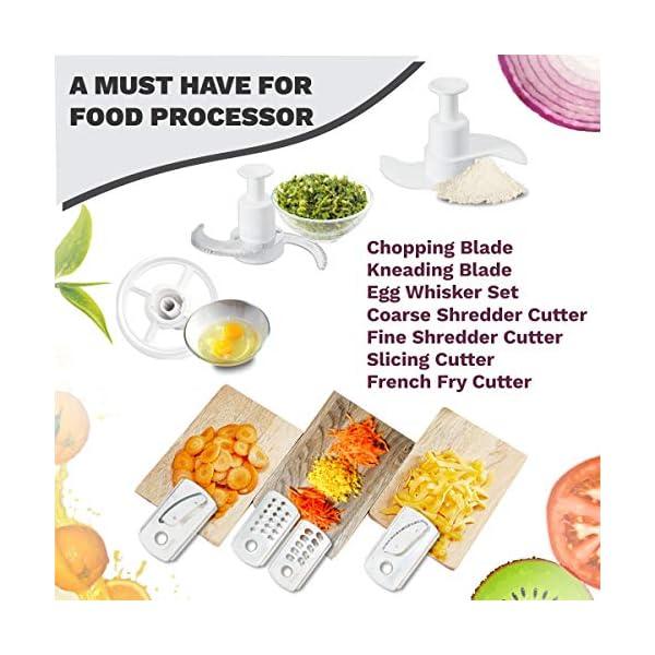 Inalsa Food Processor Fiesta 650-Watt with Break Resistant Processing Bowl, Blender, Dry Grinding Jar, 12 Accessories 5…