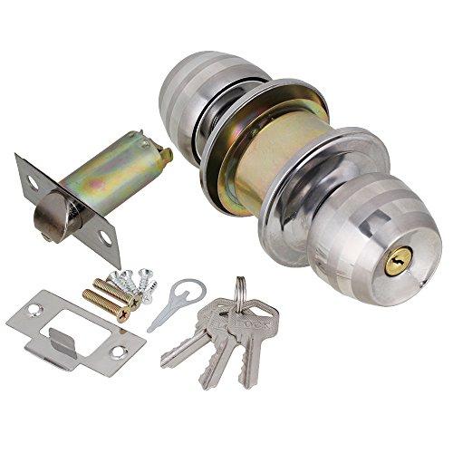 Bedroom Bathroom Stainless Steel Ball Round Handle Knob Door Keyed Entry Handle Door Knob Lockset