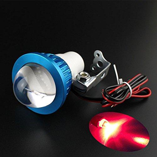 Quaanti 2018 New 12-80V Universal Bright LED Strobe Motorcycle Headlight Indicator Fish-Eye Lights Fashion hot (Red)