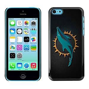 PC/Aluminum Funda Carcasa protectora para Apple Iphone 5C Cool Dolphin Sn Carbon Art / JUSTGO PHONE PROTECTOR