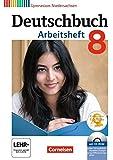 Deutschbuch Gymnasium - Niedersachsen: 8. Schuljahr - Arbeitsheft mit Lösungen und Übungs-CD-ROM