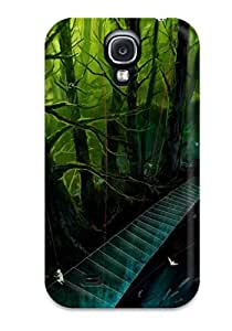 Special DanRobertse Skin Case Cover For Galaxy S4, Popular Animal Fish Forest Oceanleaves Original Scenic Stairs Tree Phone Case