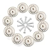 Cabinet Knob, RilexAwhile Ivory White 33mm Drawer Knobs Door Pull Handle for Dresser Cupboard Cabinet Wardrobe, 10 Pack