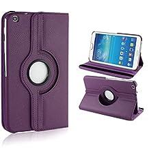 Samsung Galaxy Tab 3 8.0 Case,Beebiz 360 Degree Rotating Pu Leather Flip Folio Case Stand Cover for Samsung Galaxy Tab 3 8-Inch Case,Samsung T310 Tablet Protective Skin Shell(Purple)