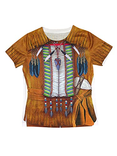 Forum Novelties Native American Boy Photo Real Print Costume Shirt, Multicolor, Large