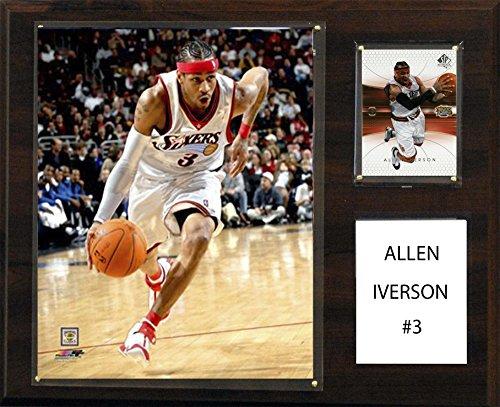 NBA Philadelphia 76Ers Allen Iverson Player Plaque, 12 x 15-Inch