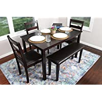 4 Person - 5 Piece Kitchen Dining Table Set - 1 Table, 3...