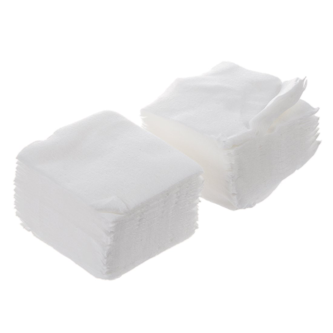TOOGOO(R) White Rectangle Facial Cotton Pads 200 Pcs for Make Up