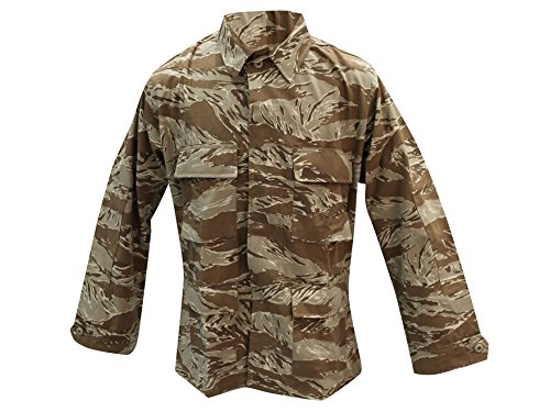 Tru-Spec BDU Coat Cotton Desert Tiger Stripe L-Long 1596025 (Bdu Jacket Stripe Tiger)