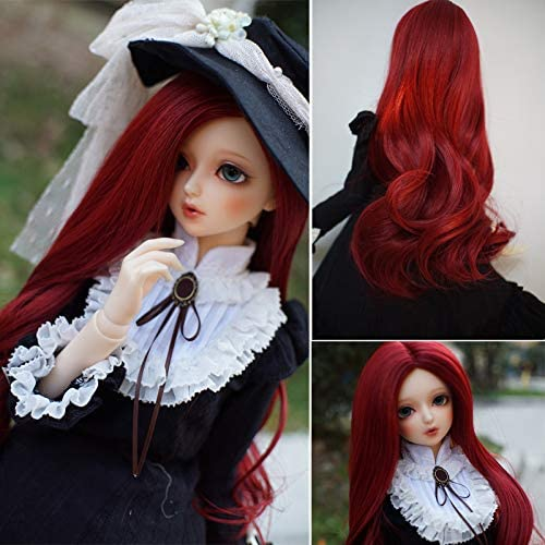 BJD Doll 1//6 6-7 Wig Long straight hair High Temperature Fiber Girl Black