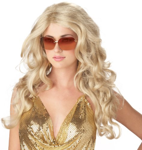 Sexy Super Model Adult Wig (California Costumes Women's Sexy Super Model Blonde Wig, Blonde, One Size)