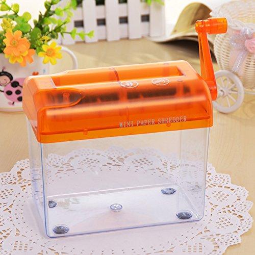 SENREAL Orange Portable Mini Manual Hand Shredder A6 Paper Documents Handmade Straight Cutting Machine Tool For Office Home Desktop Stationery