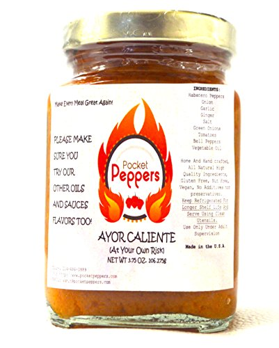 All Natural Hot Sauce - 3.75oz ~ SPICY HABANERO CONCENTRATE sauce ~ WORLDS HOTTEST SAUCE, BEST TASTING PEPPER DELIVERS IN HEAT AND FLAVOR ~ Great Gift Ideas !!