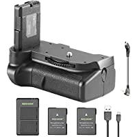 Neewer DSLR Vertical Battery Grip and 2 Pieces 1050mAh EN-EL14 Replacement Li-ion Battery with USB Input Dual Charger for Nikon D5100 5200 D5300 DSLR Camera