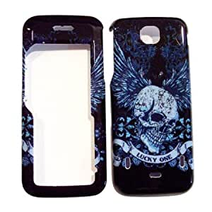 Quaroth Hard Plastic Snap on Cover Fits Nokia 5310 XpressMusic Skull Wing II T-Mobile