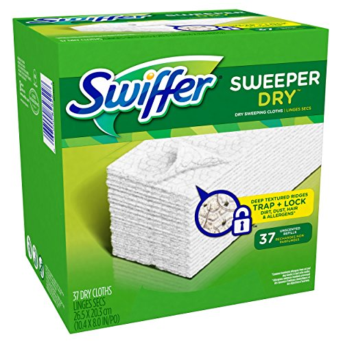 Swiffer Sweeper Dry Sweeping Pad Refills for Floor mop Unscented 37 Count (Swiffer Mop And Broom Refills compare prices)