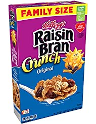 Kellogg's Raisin Bran, Breakfast Cereal, with Cranberries,Excellent Source of Fiber, 13.5 oz Box