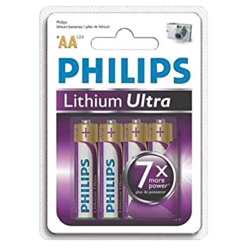 8 Pack Philips Lithium Ultra AA Batteries - FR6LB4A-8  Amazon.co.uk  Camera    Photo c00ed8d101a19