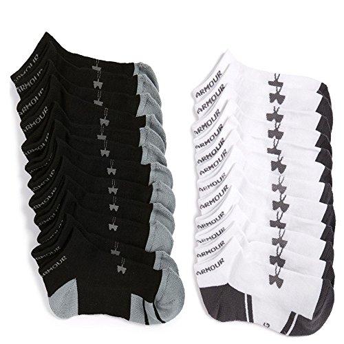 mens-under-armour-resistor-no-show-socks-x-large-6-black-6-white