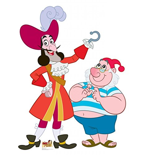 Captain Hook and Mr. Smee - Disney Junior's Jake and the Never Land Pirates - Advanced Graphics Life Size Cardboard (Cartoon Pirate Hat)