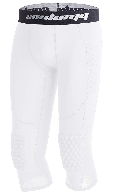 COOLOMG Pantalones de Baloncesto con Rodilleras para niños 3 ...