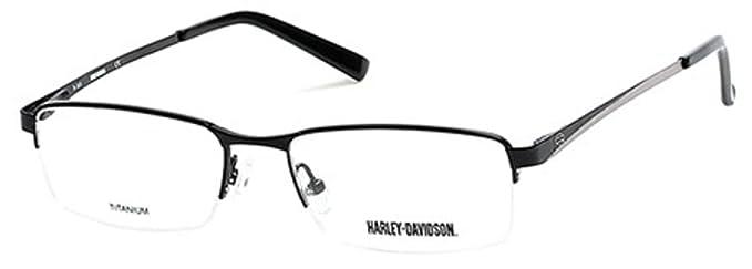 HARLEY DAVIDSON Eyeglasses HD0748 002 Matte Black 55MM at Amazon ...