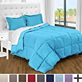 Alternative Comforter - Ultra-Soft Premium 1800 Series Goose Down Alternative Comforter Set - Hypoallergenic - All Season - Plush Fiberfill, Twin Extra Long (Twin XL, Aqua)