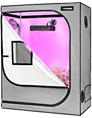 VIVOSUN Gray Grow Tent with Observation Window and Floor Tray, Mylar hydroponic Tents for Plants 4x2 FT