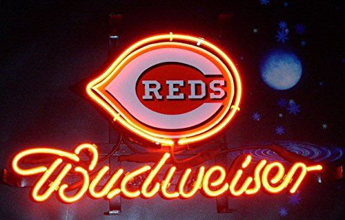 "Desung 20""x16"" Budweisers Cincinnati Sports Team Red Neon Sign (VariousSizes) Beer Bar Pub Man Cave Glass Light Lamp BW57"