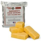 Emergency Food Rations - 3600 Calorie Bar - 3 Day Supply - Less Sugar and More Nutrients Than Other Leading Brands - (5 Year Shelf Life)