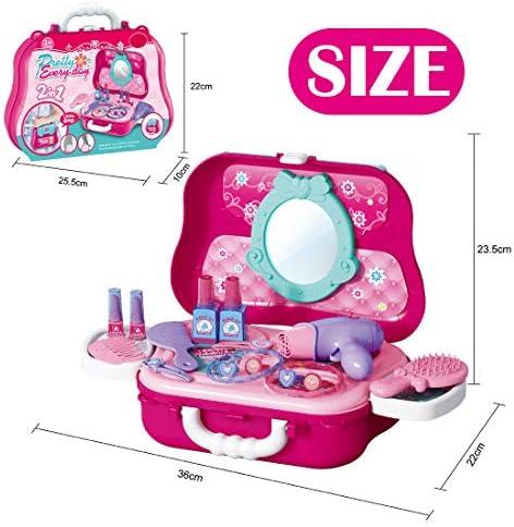 Vanplay Estuche de Juguete de Maquillaje con Muchos Accesorios Cosméticos para Princess Girl 3 4 5 años, 22 Piezas: Amazon.es: Juguetes y juegos