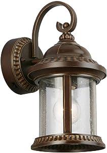 Home Decorators Collection Bronze Motion Sensor Outdoor Medium Wall Mount Lantern GEM1691AM-6