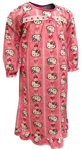 (Hello Kitty Girls' Little Nightgown, Kitty Pink,)