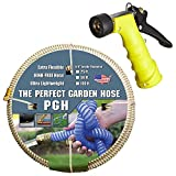 Tuff-Guard 001-0108-0600-SN75 Thermoplastic Elastomer/Polyester/Polypropylene (PP)/Brass The Perfect Garden Hose, Coupled Male x Female GHT, 5/8'' x 50', Beige, Ght Thread, 50' Length, 0.63'' ID