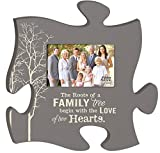 The Roots of a Family Tree Grey 4x6 Photo Frame Inspirational Puzzle Piece Wall Art Plaque