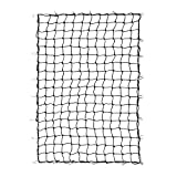 """Orion Motor Tech 4'x6' Stretches to 8'x12' Trailer Truck Bed Cargo Net with 24pcs Aluminium Hooks, 4""""x4"""" Small Mesh, 1/5"""" Dia. Latex Bungee Cords"""