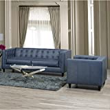 Westland and Birch Nobleton Leather Sofa and Chair Set