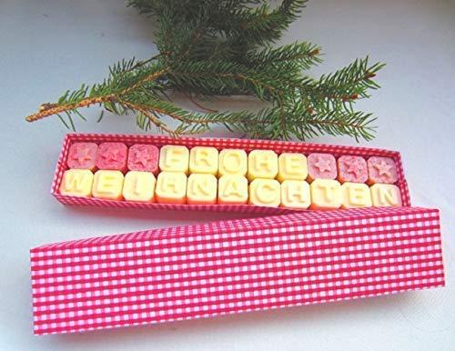 Badepralinen Telegramm Weihnachten in der Geschenkbox, ohne Palmö l, von kleine Auszeit Manufaktur