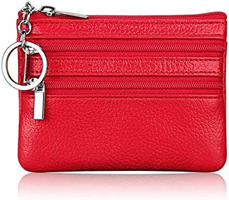 Color: Purple Gimax Coin Purses Womens PU Leather Coin Purse Fashion Small Zipper Bag Mini Wallet Pocket Credit Card Case MSJ99