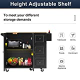 HOMHUM Rolling Kitchen Island Cart with