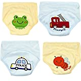 Adorable Toddler Potty Training Pants for Baby Boys and Girls,Size for 9 Months to 3 Years,Pure Cotton,4 Pack (2Year-3 Year, A)
