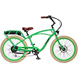 "Pedego Interceptor 26"" Classic Lime Green with Creme Balloon Package 48V 15Ah"