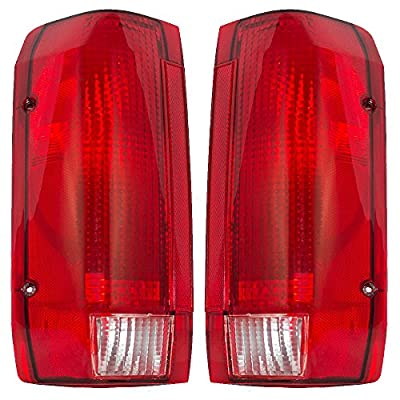 Driver and Passenger Taillights Tail Lamps Replacement for Ford Pickup Truck SUV E9TZ13405C E9TZ13404C
