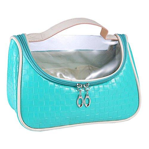 [Hatop European Style Portable Multifunction Saddle Cosmetic Bag (Green)] (Replica Makeup)
